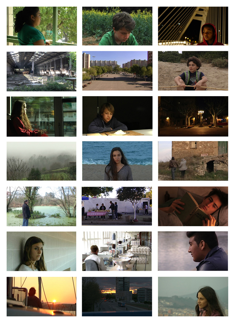 Captures from some of the films made in the workshops of Cinema en curs from Catalonia, Galicia, Madrid, Argentina and Chile, in 2013-2014. All the films can be watched on the website www.cinemaencurs.org/en