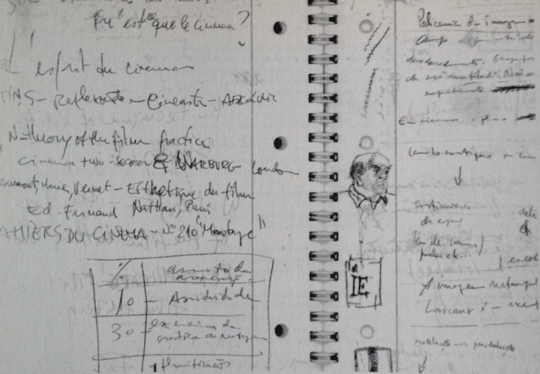 Notebook from the first day of class of António Reis